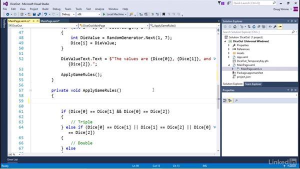 Create scoring: Learning Universal Windows App Development