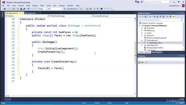 Add code to a custom component: Learning Universal Windows App Development
