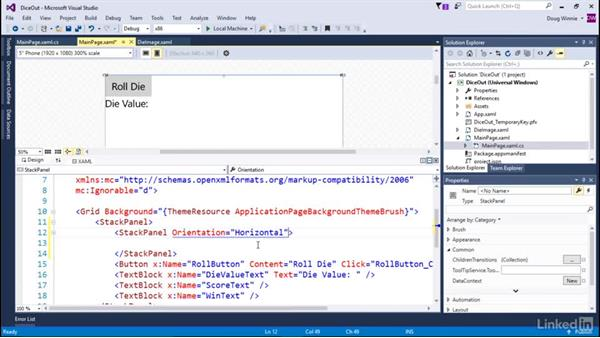 Add a component to an app: Learning Universal Windows App Development