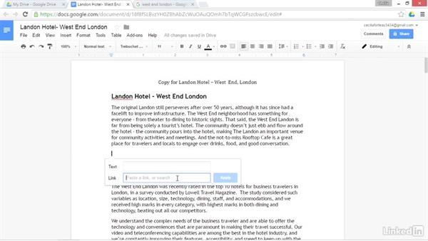 Use Google Search to insert links: Google Drive Advanced Tips and Tricks