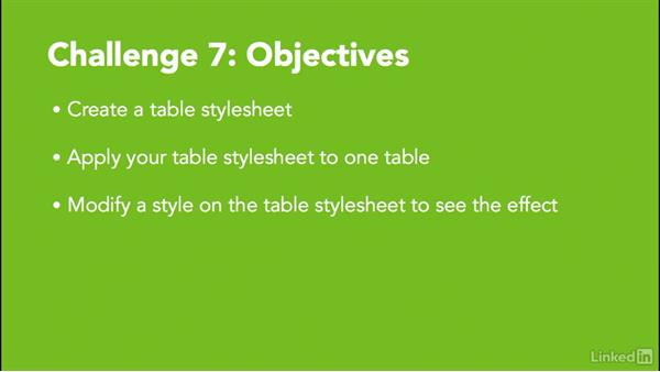 ✓ Challenge 7: Create a table stylesheet: MadCap Flare 12 Essential Training