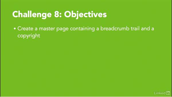 ✓ Challenge 8: Create a master page: MadCap Flare 12 Essential Training