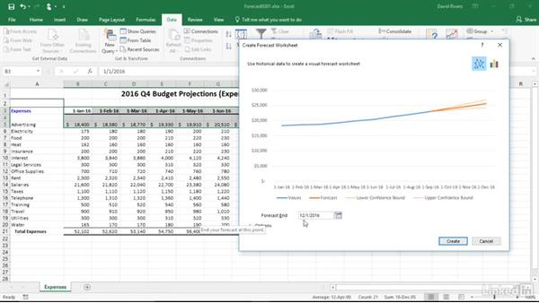 Use one-click forecasting: Migrating from Office 2013 to Office 2016