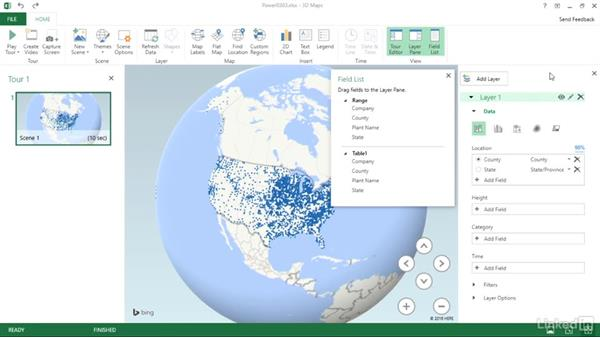 Visualize data with 3D maps: Migrating from Office 2013 to Office 2016