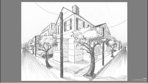 Drawing the illusion of depth: Drawing 2-Point Perspective