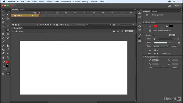 Creating graphics: Adobe Animate CC for Web Designers