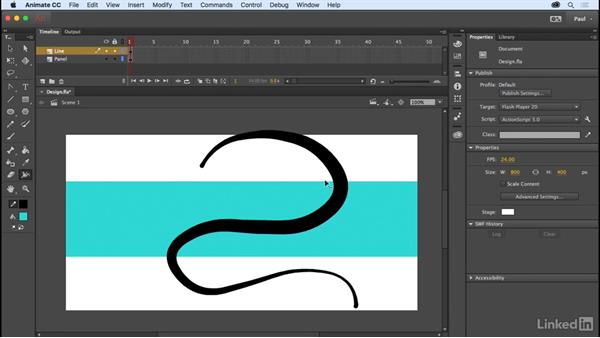 Using the Drawing tools: Adobe Animate CC for Web Designers