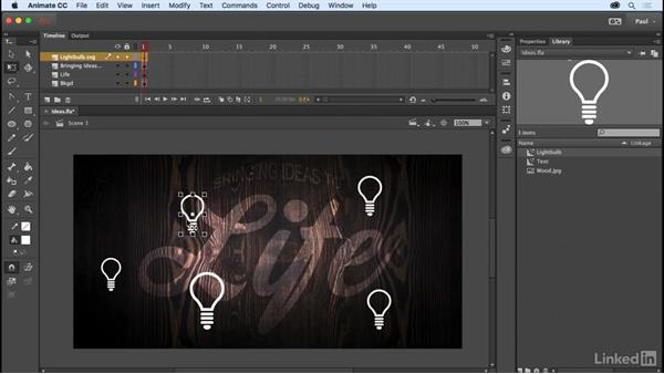 Creating and reusing MovieClip symbols: Adobe Animate CC for Web Designers