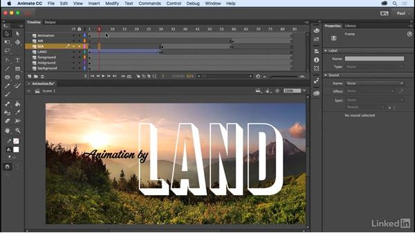 Creating a classic tween: Adobe Animate CC for Web Designers
