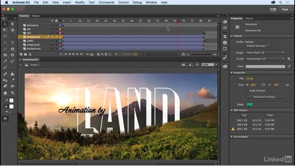 Animating effects: Adobe Animate CC for Web Designers