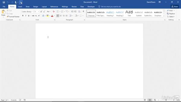 Customize the quick access toolbar: Migrating from Office 2010 to Office 2016