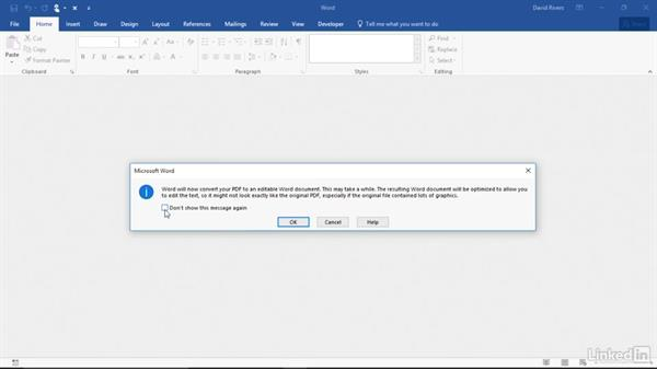Open and edit PDF files: Migrating from Office 2010 to Office 2016