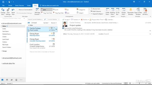 Work with messages in the new UI: Migrating from Office 2010 to Office 2016