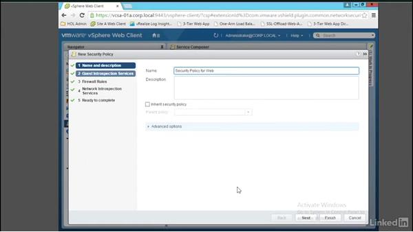 Configure and test Service Composer security policies: Learn VMware NSX: Security