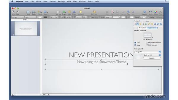 Understanding master slides: Keynote '09 Essential Training