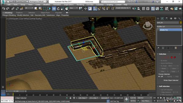 Blending grid–based materials: Game Art: Environment Kit Design