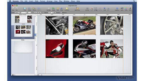 Layout and alignment of objects: Keynote '09 Essential Training