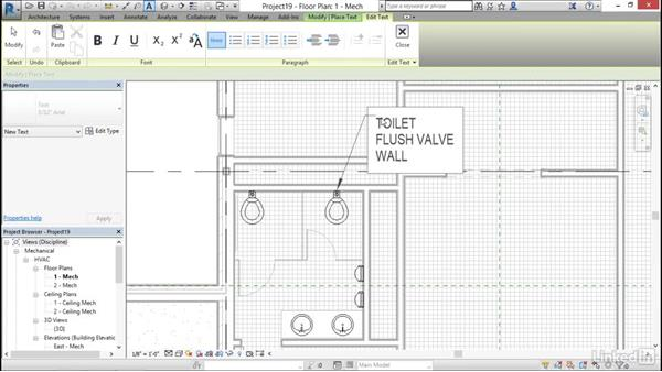 Add and modify text: Cert Prep: Revit MEP Mechanical & Plumbing Certified Professional