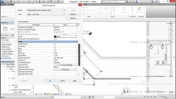 Add and modify dimensions: Cert Prep: Revit MEP Mechanical & Plumbing Certified Professional