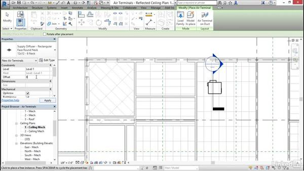 Mechanical: Add and modify air terminals: Cert Prep: Revit MEP Mechanical & Plumbing Certified Professional