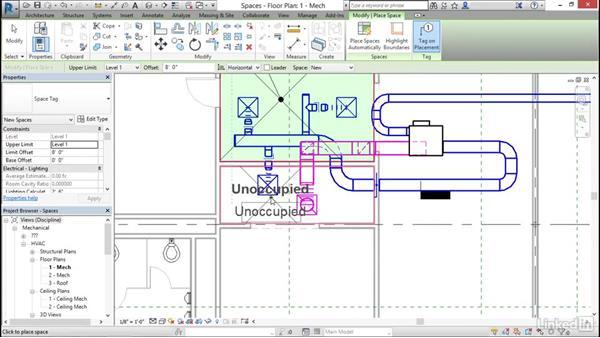 Mechanical: Work with spaces: Cert Prep: Revit MEP Mechanical & Plumbing Certified Professional