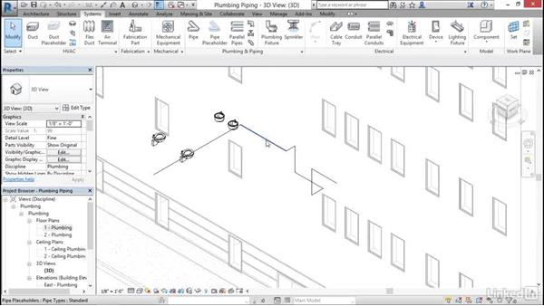 Plumbing: Add and modify placeholder pipe: Cert Prep: Revit MEP Mechanical & Plumbing Certified Professional