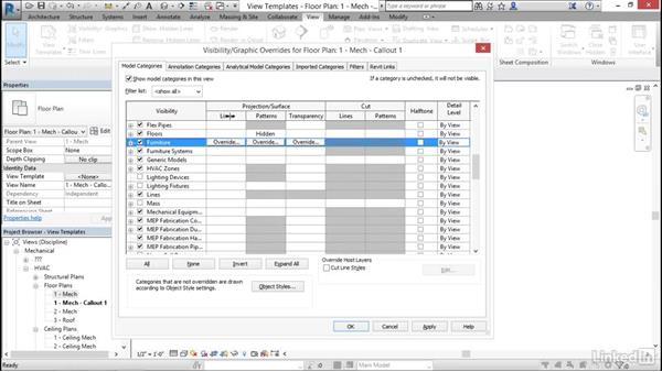 Apply view templates: Cert Prep: Revit MEP Mechanical & Plumbing Certified Professional