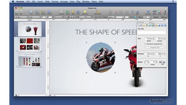 Working with shape objects: Keynote '09 Essential Training