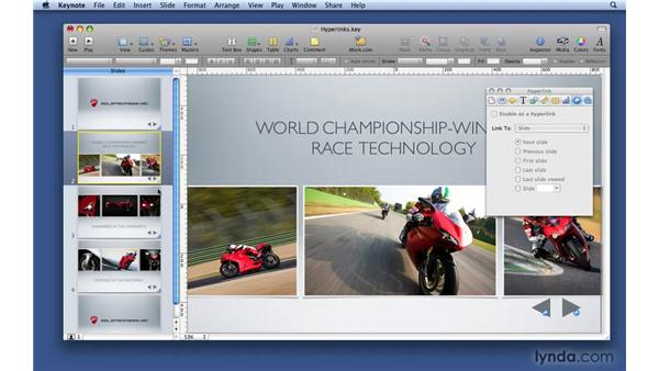 Adding hyperlinks: Keynote '09 Essential Training