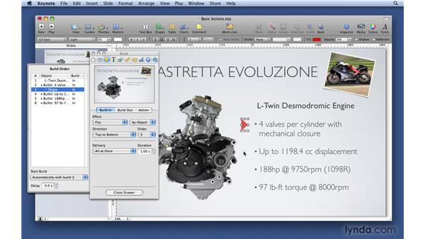 Building basic actions: Keynote '09 Essential Training