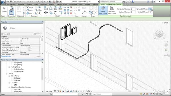 Electrical: Add and modify conduit: Cert Prep: Revit MEP Electrical Certified Professional