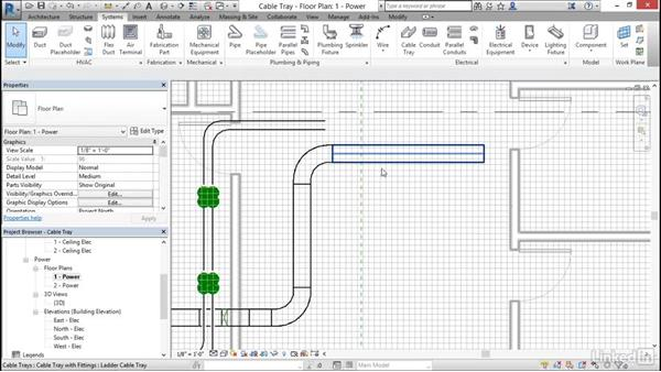 Electrical: Use cable trays: Cert Prep: Revit MEP Electrical Certified Professional