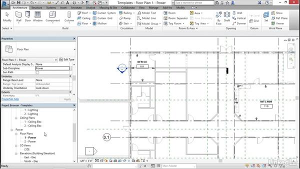 Apply view templates: Cert Prep: Revit MEP Electrical Certified Professional