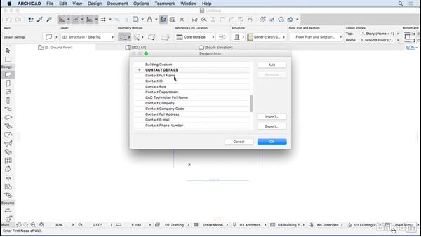 New project information: ArchiCAD Essential Training