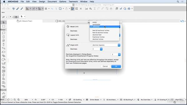Setting up working units: ArchiCAD Essential Training