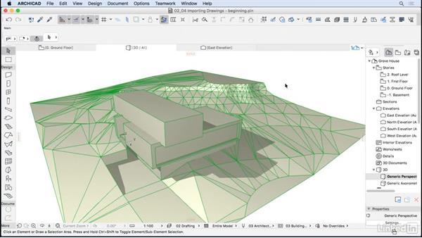 Importing drawings from other programs: ArchiCAD Essential Training