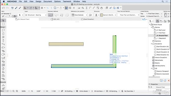 Editing elements in ArchiCAD: ArchiCAD Essential Training