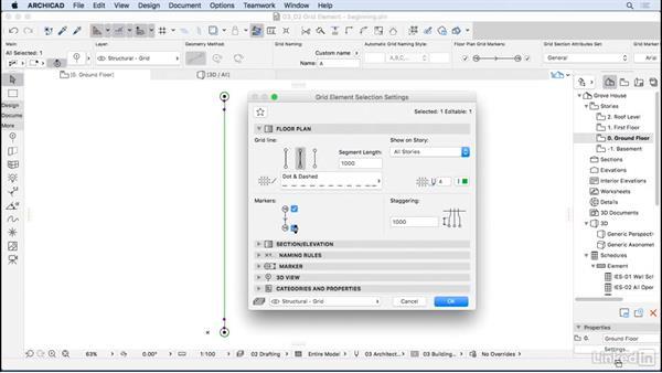 Grid element: ArchiCAD Essential Training