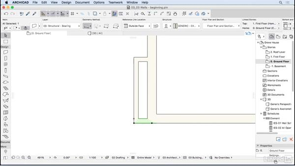 Modeling walls: ArchiCAD Essential Training