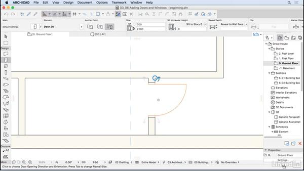 Adding doors and windows: ArchiCAD Essential Training