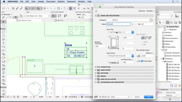 Modeling zones: ArchiCAD Essential Training
