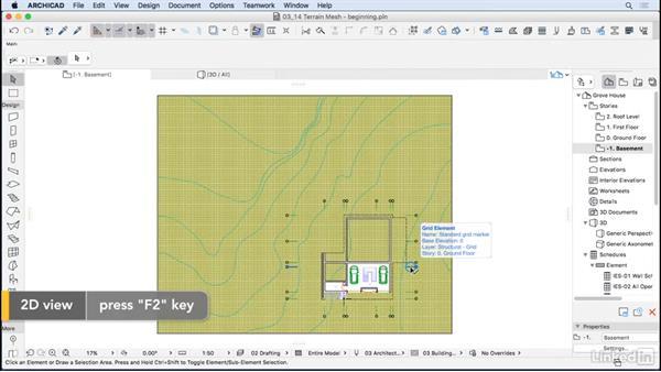 Terrain mesh: ArchiCAD Essential Training