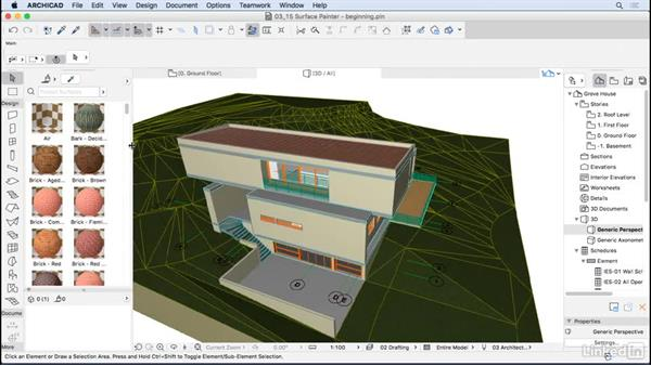 Surface painting: ArchiCAD Essential Training
