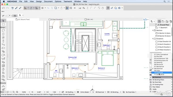 Pen sets: ArchiCAD Essential Training