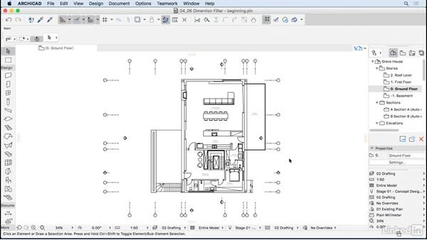 Dimension filters: ArchiCAD Essential Training
