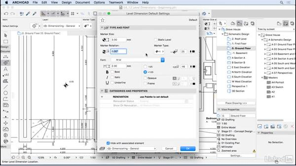 Level dimensions: ArchiCAD Essential Training