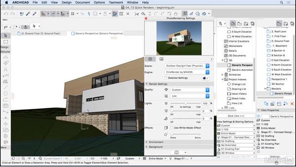 Quick renders: ArchiCAD Essential Training