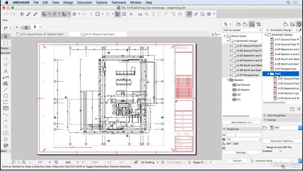 Publishing your drawings: ArchiCAD Essential Training