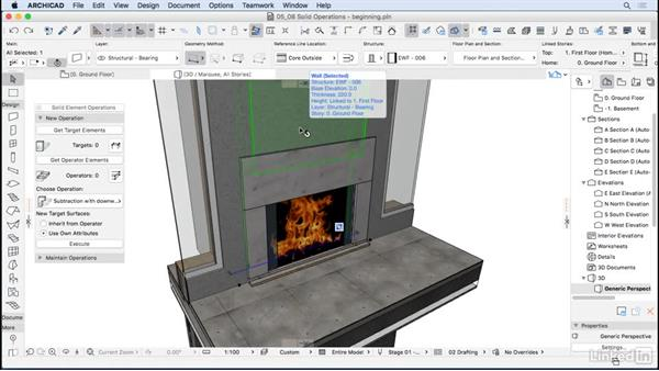 Solid Element Operations: ArchiCAD Essential Training