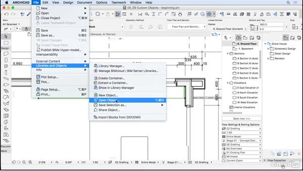 Creating custom objects: ArchiCAD Essential Training
